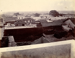 Panoramic view of the town from the top of the Jami Masjid, Khambhat (Cambay). Section 4, looking east